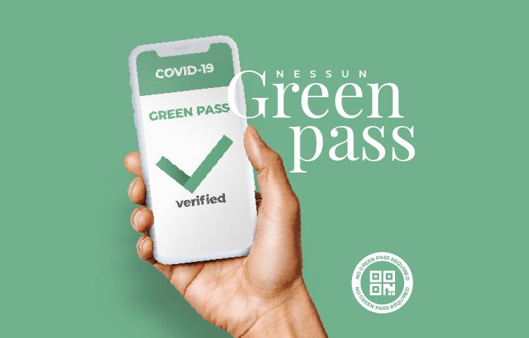 Nessun Green Pass richiesto.